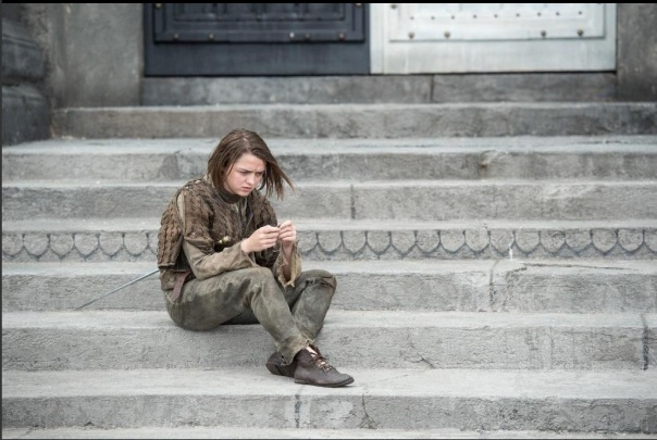 Arya on Steps
