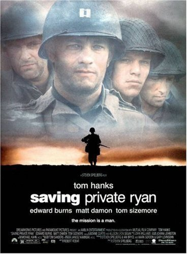 Saving Private Ryan (1998), director Steven Spielberg's influential film about American GIs in World War II.
