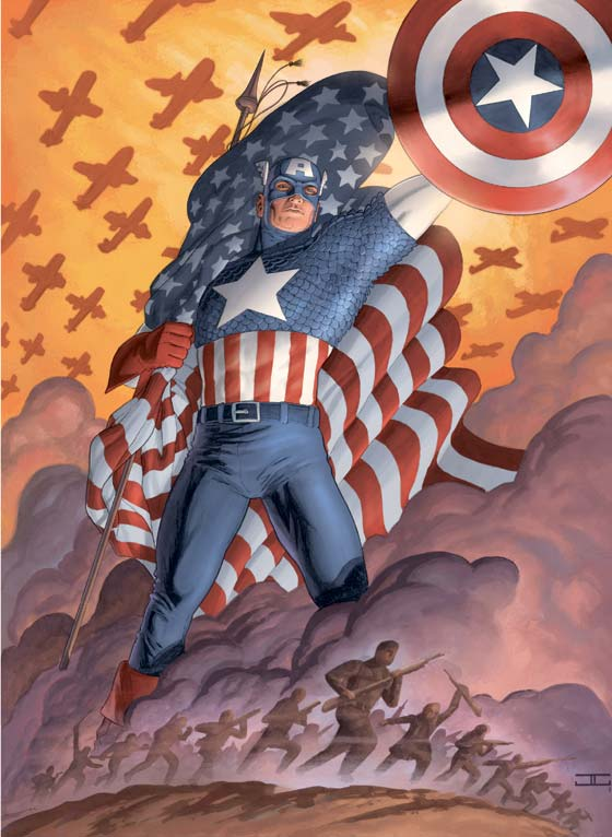 Cover art for Captain America (Vol. 4) #1 by John Cassaday