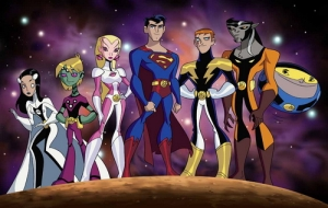 Legions of Super Heros Pictured: Phantom Girl, Brainiac 5, Saturn Girl, Superboy, Lightning Lad, Timber Wolf, Bouncing Boy Photo Credit: © 2006 Warner Bros. Animation Inc.