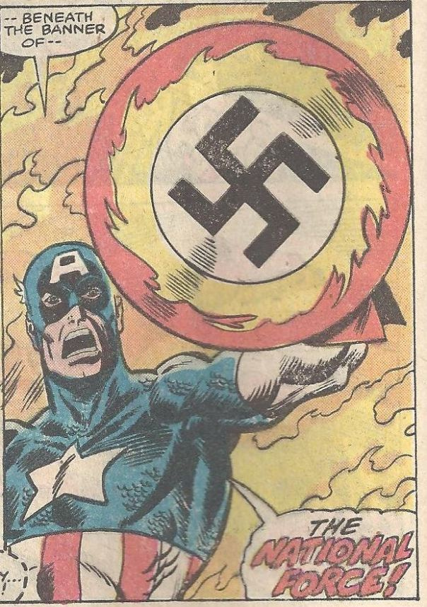 Panel from Captain America #234 (1979). Art by Sal Buscema.