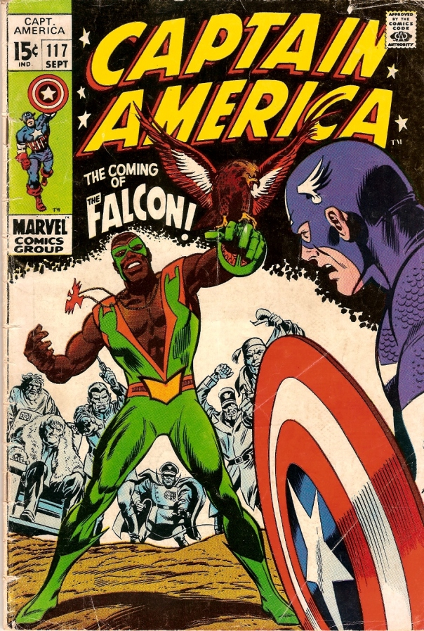 Cover of Captain America #117, 1969. Art by John Romita Sr., Gene Colan, and Joe Sinnott.