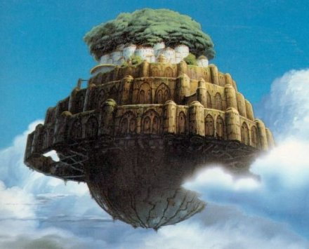 Castle in the sky island